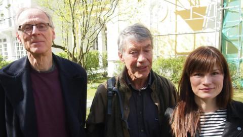 Juryen bestående av Espen Søbye, Hans Fredrik Dahl, Synne Corell. Foto: Norsk faglitterær forfatter- og oversetterforening
