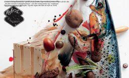 Kolonihagens fire reklamebilder lagt over hverandre for å illustrere likhet i komposisjon. Fra Alexander Kielland Krags masteroppgave